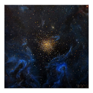 NGC 3603 Nebula Galaxy Painting by Alizey Khan Poster