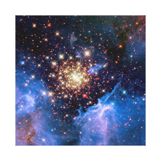 NGC 3603 Star Cluster - NASA Hubble Space Photo Canvas Print