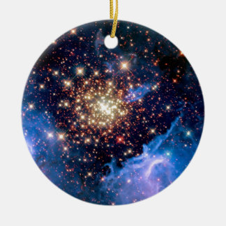 NGC 3603 Star Cluster - NASA Hubble Space Photo Ceramic Ornament