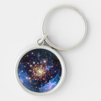 NGC 3603 Star Cluster - NASA Hubble Space Photo Keychain