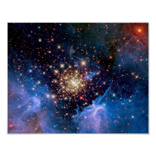 NGC 3603 Star Cluster - NASA Hubble Space Photo Poster