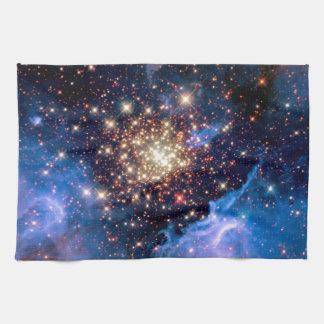 NGC 3603 Star Cluster - NASA Hubble Space Photo Towel