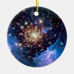 NGC 3603 Star Cluster Double-Sided Ceramic Round Christmas Ornament