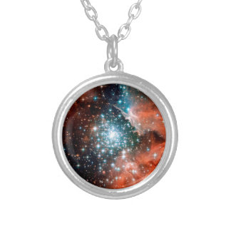 NGC 3603 Star Forming Region - Hubble Space Photo Silver Plated Necklace