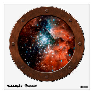 NGC 3603 Star Forming Region Steampunk Porthole Wall Decal