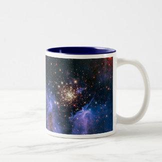 NGC 3603 super star cluster NASA Two-Tone Coffee Mug