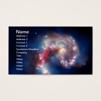 NGC 4038 Antennae Galaxies NASA Business Card