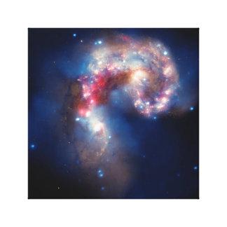 NGC 4038 Antennae Galaxies NASA Canvas Print