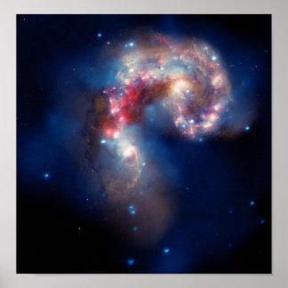 NGC 4038 Antennae Galaxies NASA Poster