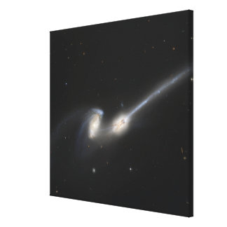 NGC 4676, also known as the Mice Galaxies Canvas Print