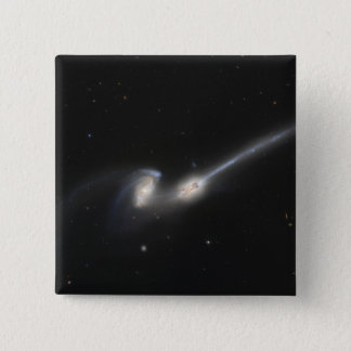 NGC 4676, also known as the Mice Galaxies Pinback Button