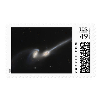 NGC 4676, also known as the Mice Galaxies Postage