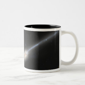 NGC 4676, also known as the Mice Galaxies Two-Tone Coffee Mug