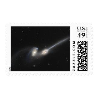 NGC 4676, también conocido como las galaxias de Sellos Postales