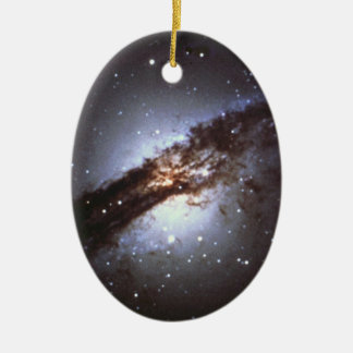 NGC 5128  Centaurus A Galaxy NASA Ceramic Ornament