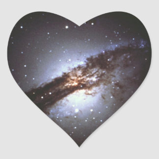 NGC 5128  Centaurus A Galaxy NASA Heart Sticker