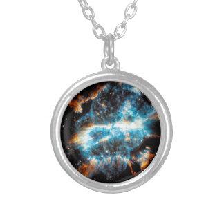 NGC 5189 Planetary Nebula Round Pendant Necklace