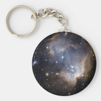 NGC 602 bright stars in the Milky Way Basic Round Button Keychain