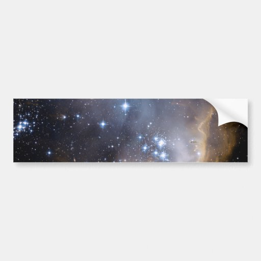 NGC 602 bright stars in the Milky Way Bumper Sticker