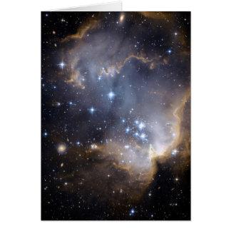 NGC 602 bright stars NASA Card