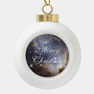 NGC 602 bright stars NASA Ceramic Ball Christmas Ornament