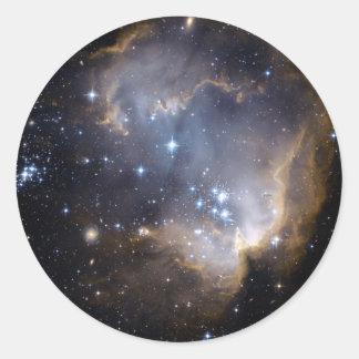 NGC 602 bright stars NASA Classic Round Sticker