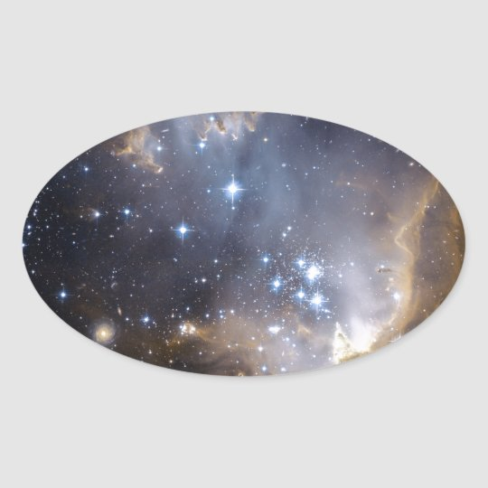 NGC 602 bright stars NASA Oval Sticker