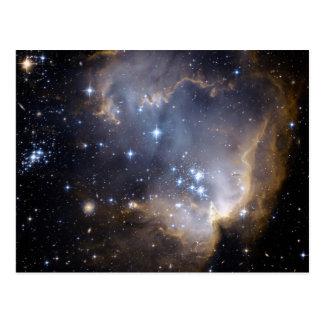 NGC 602 bright stars NASA Postcard
