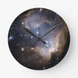 NGC 602 bright stars Round Wallclocks