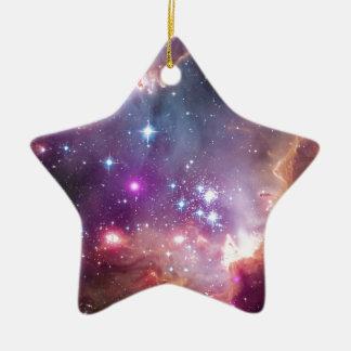 NGC 602: Star Cluster, Small Magellanic Cloud Ceramic Ornament