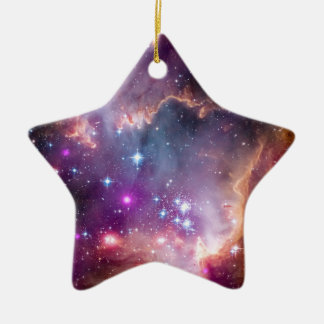 NGC 602 Star Formation - NASA Hubble Space Photo Ceramic Ornament