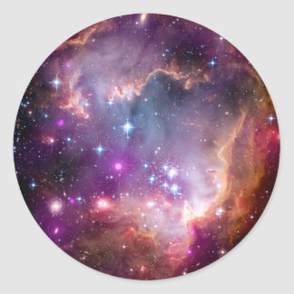 NGC 602 Star Formation - NASA Hubble Space Photo Classic Round Sticker