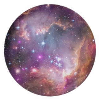NGC 602 Star Formation - NASA Hubble Space Photo Dinner Plate