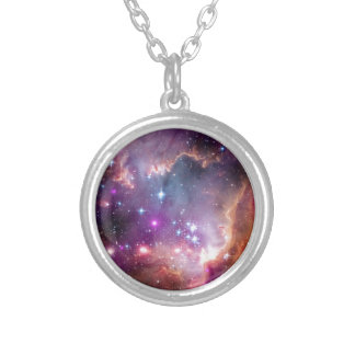 NGC 602 Star Formation Silver Plated Necklace