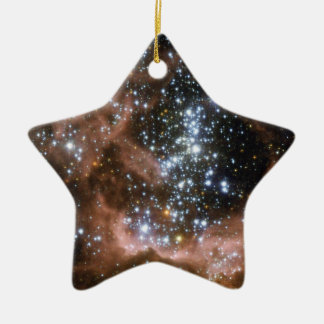 NGC 604 Galactic brown star clouds Ceramic Ornament