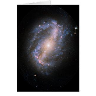 NGC-6217 Barred Spiral Galaxy Card