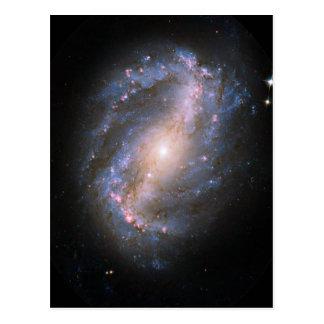 NGC-6217 Barred Spiral Galaxy Postcard