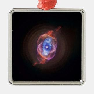 NGC 6543: The Cat's Eye Nebula Square Metal Christmas Ornament