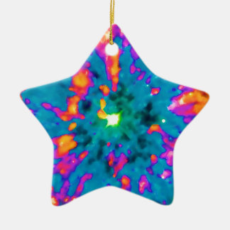 NGC 6751 Planetary Nebula Pop Art Double-Sided Star Ceramic Christmas Ornament