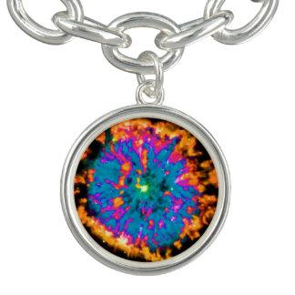 NGC 6751 Planetary Nebula Pop Art Bracelets