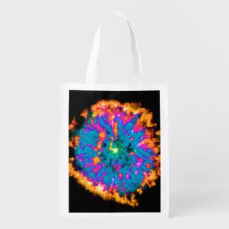 NGC 6751 Planetary Nebula Pop Art Market Totes