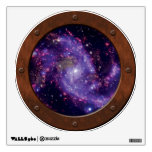 NGC 6946 Fireworks Galaxy Steampunk Porthole Wall Decal