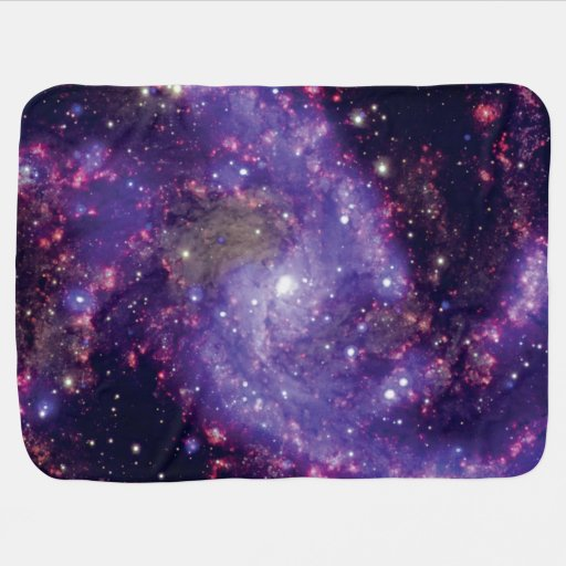 Ngc 6946 the 39 fireworks galaxy 39 receiving blanket zazzle for Outer space fleece