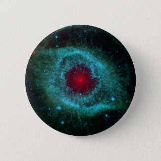 NGC 7293 The Helix Nebula NASA Pinback Button
