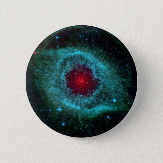 NGC 7293 The Helix Nebula NASA Pinback Button