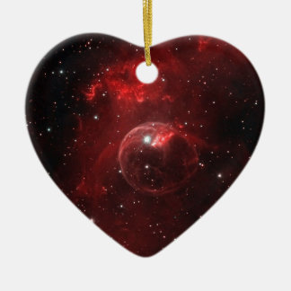 NGC 7635 Bubble Nebula Cassiopeia Ceramic Ornament