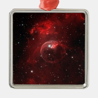 NGC 7635 Bubble Nebula Cassiopeia Metal Ornament