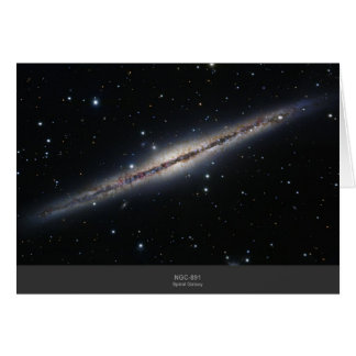 NGC-891 spiral galaxy Card