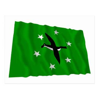 Ngchesar Waving Flag Postcard