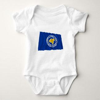 Ngeremlengui Waving Flag Baby Bodysuit